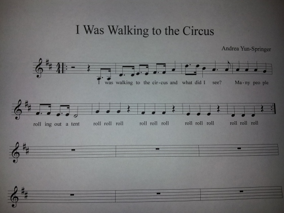 I was walking to the circus