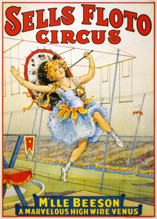 Sells_Floto_Circus_presents_M'lle_Beeson,_a_marvelous_high_wire_Venus,_performance_poster,_1921